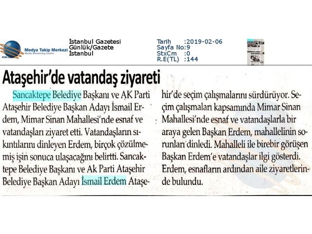 İSTANBUL GAZETESİ 6 ŞUBAT