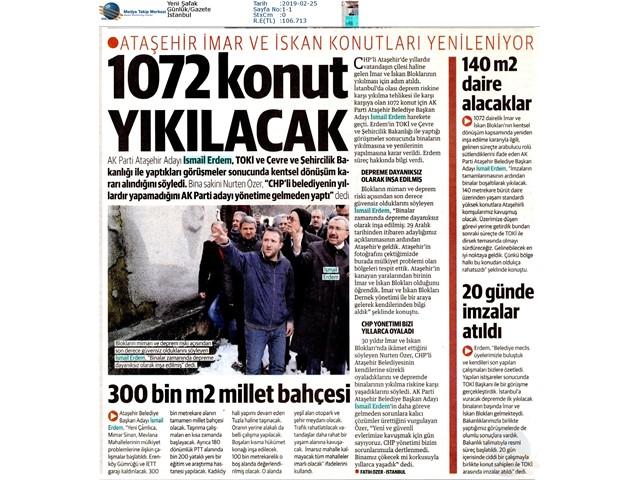 24 ŞUBAT YENİŞAFAK GAZETESİ