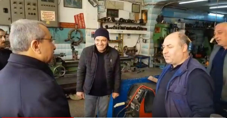 #İÇERENKÖY Bostancı Oto Sanayi Sitesinde Esnaf Ziyareti